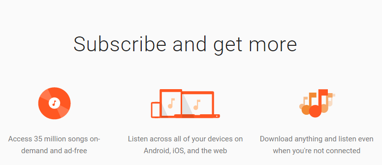 google play music subscription cost