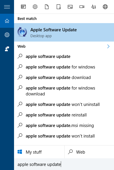 disable apple software on pc