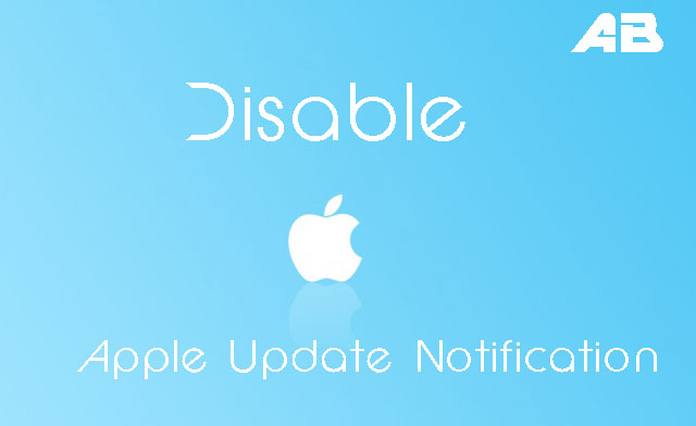How to Disable Apple Software Update notification on Windows