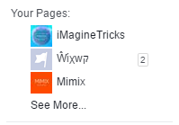 Select your Facebook Page