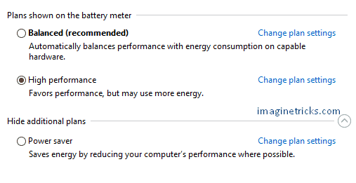 Adjust your Power Saving Settings