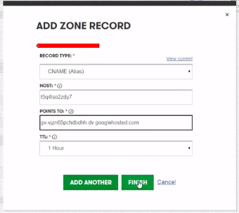 Add new record level dns zone