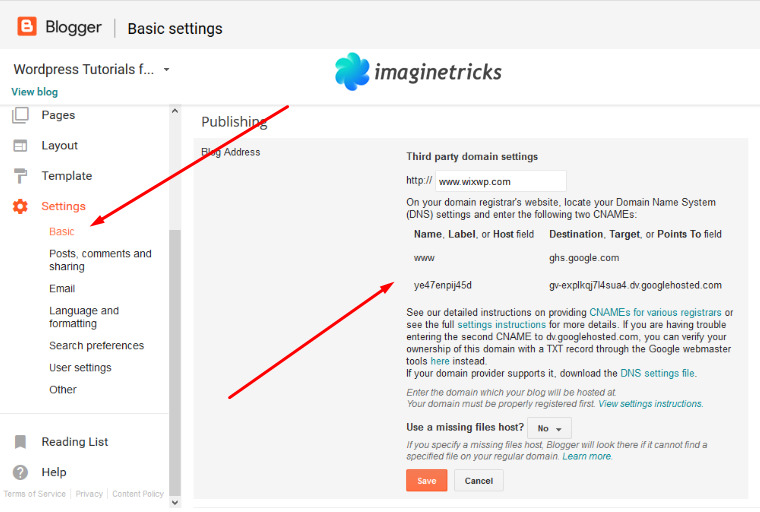 blogspot dashboard setting