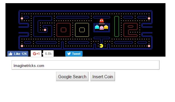 Google Gravity Pacman