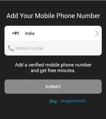 Make Whatsapp with international number