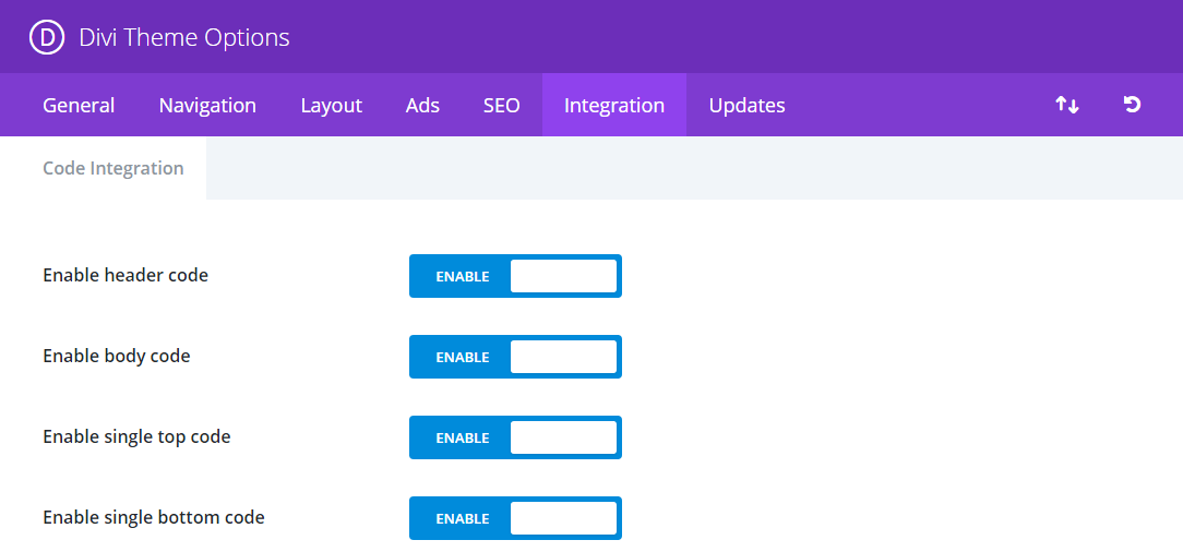 Ad Code banner in Divi Tricks