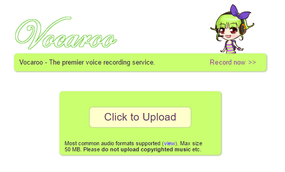 Vacaroo.com Best Easiest Recording site