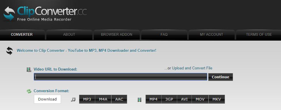 Clipconverter CC Download Any videos