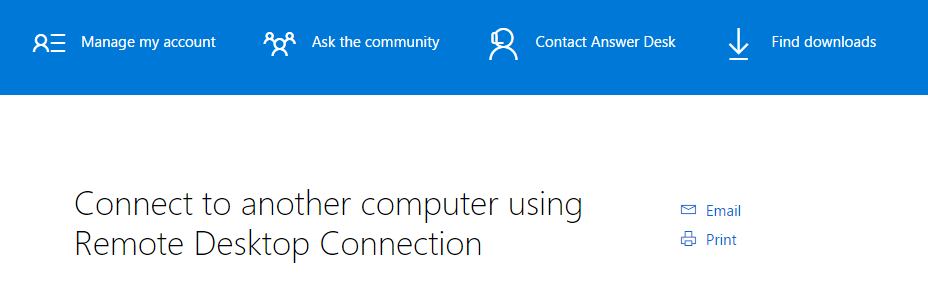 Windows Remote Desktop Software