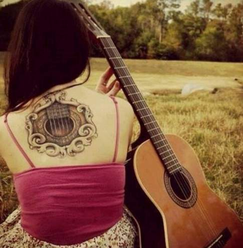 Cute Girl With Guitar
