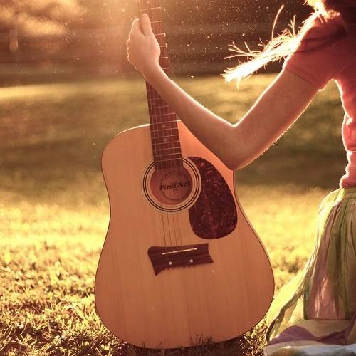 Cute Girl With Guiter Cool Profile Pictures