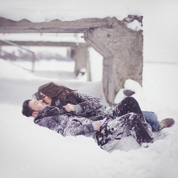 cute girl & couple hug