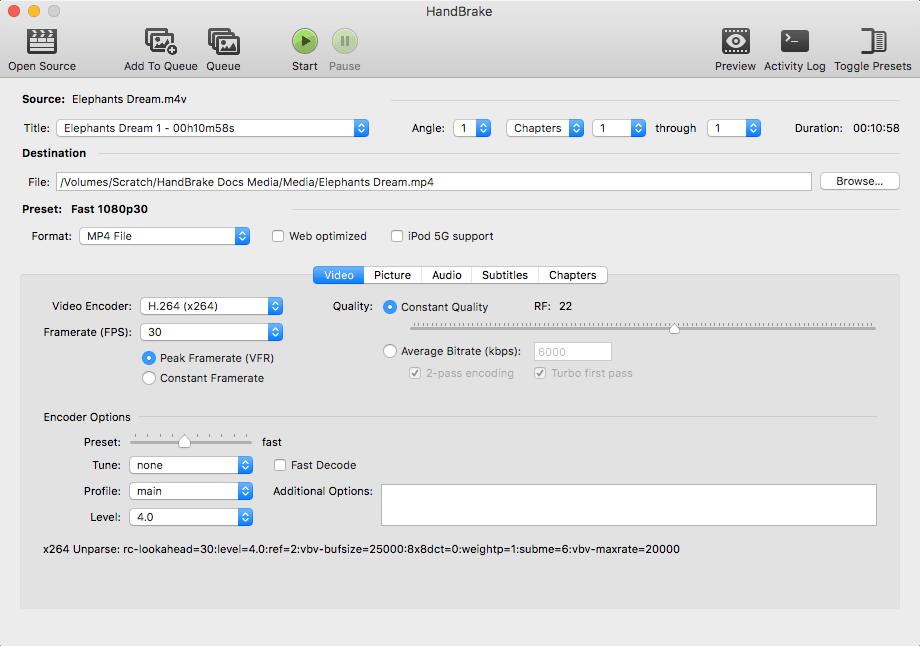 Handbrake The open source video transcoder Software