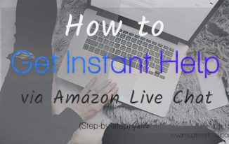 Get instant help for your query via Amazon Live Chat