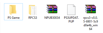 "Create a new folder Known as ""PS Game""."